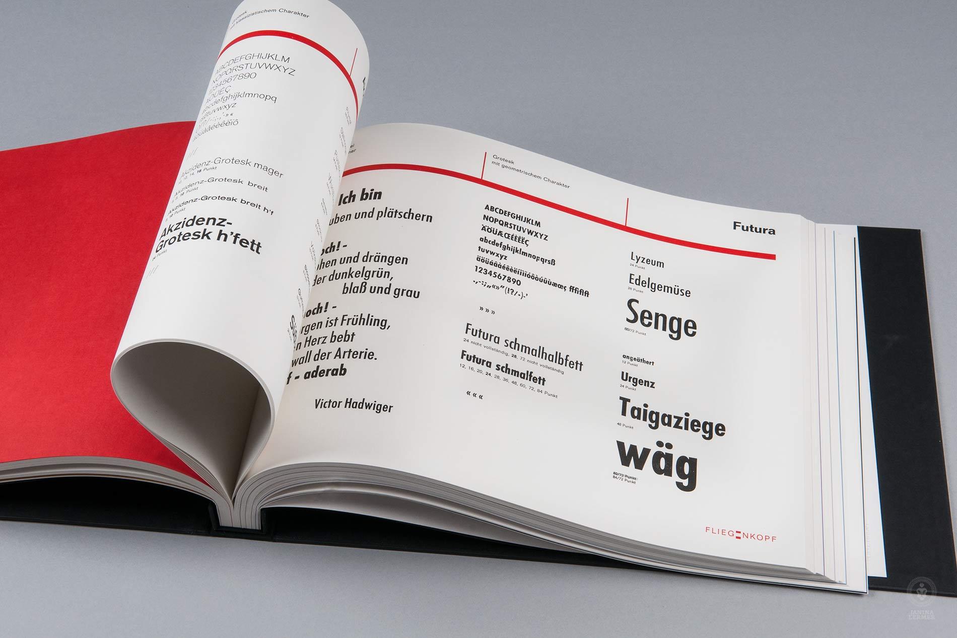 Janina-Lermer-Buchgestaltung-Magazingestaltung-Editorialdesign-Bleisatz-Metalype-Geometrische-Grotesk-Handgedruckt-Handprinted-Werkstatt-Fliegenkopf