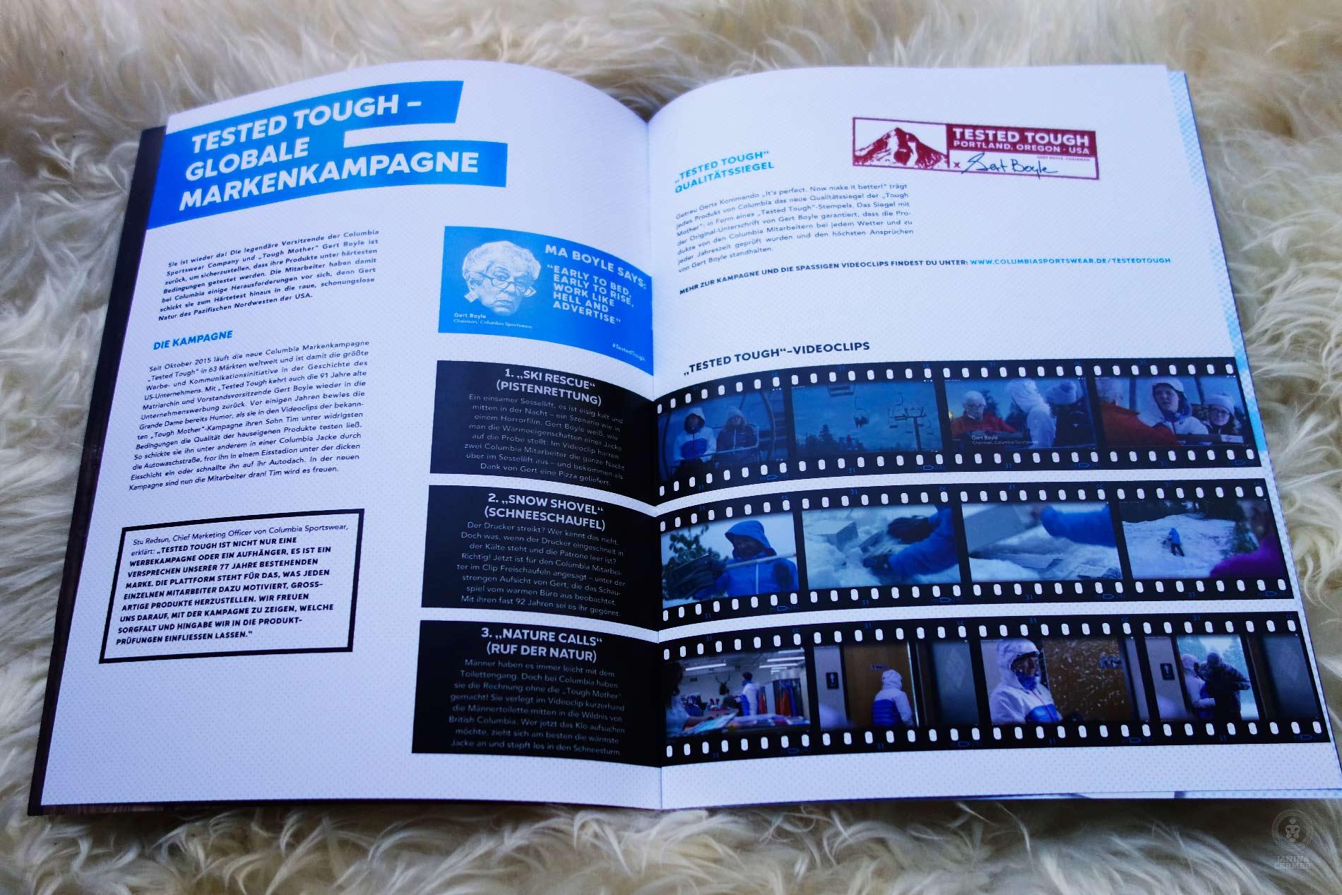 Janina-Lermer-Markenkommunikation-Brand-communication-Columbia-Presskit-Editorialdesing-Innenseiten-Filmstreifen-Filmstipes-Winter-16