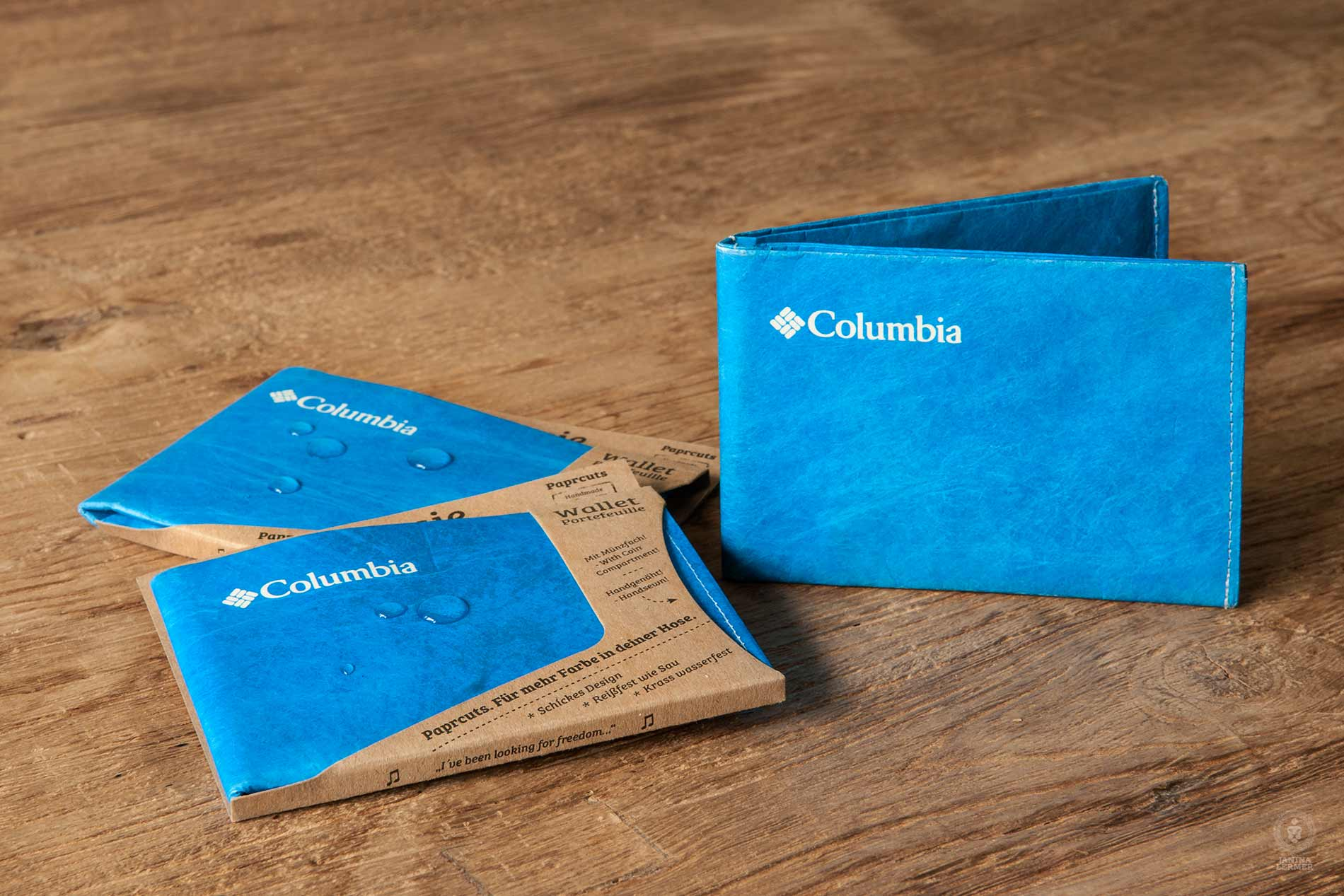 Janina-Lermer-Verpackung-Packaging-Geldbeutel-Wallet-wasserabweisend-waterrepellent-Columbia