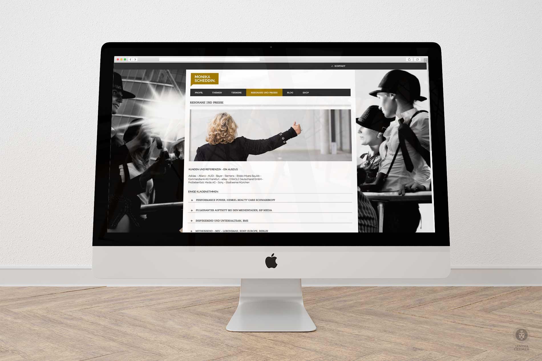 Janina-Lermer-Webseitengestaltung-Webdesign-Presse-Press-Coach-Monika-Scheddin