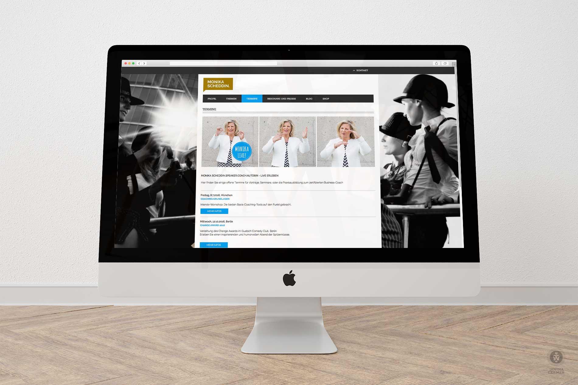Janina-Lermer-Webseitengestaltung-Webdesign-Termine-Coach-Monika-Scheddin