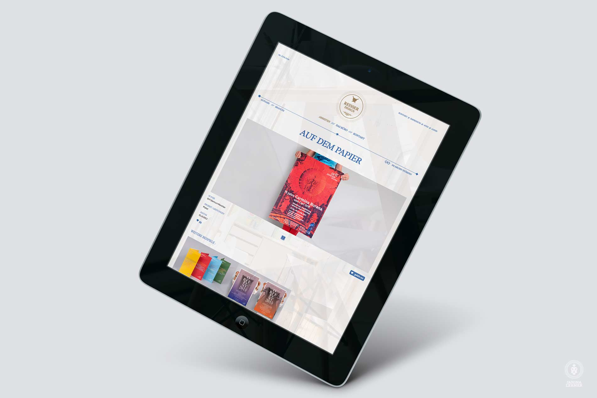 Janina-Lermer-Webseitenkonzept-Webseitengestaltung-Webdesign-Reisserdesign-Ipad-Projekte-Papier-project-paper