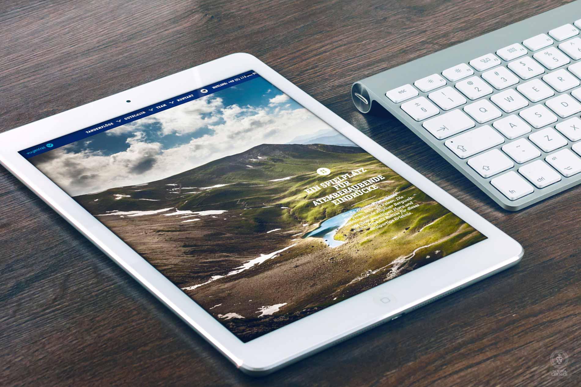 Janina-Lermer-Webseitenkonzept-Webseitengestaltung-Webdesign-Vogelfrei-Tablet_Hom2