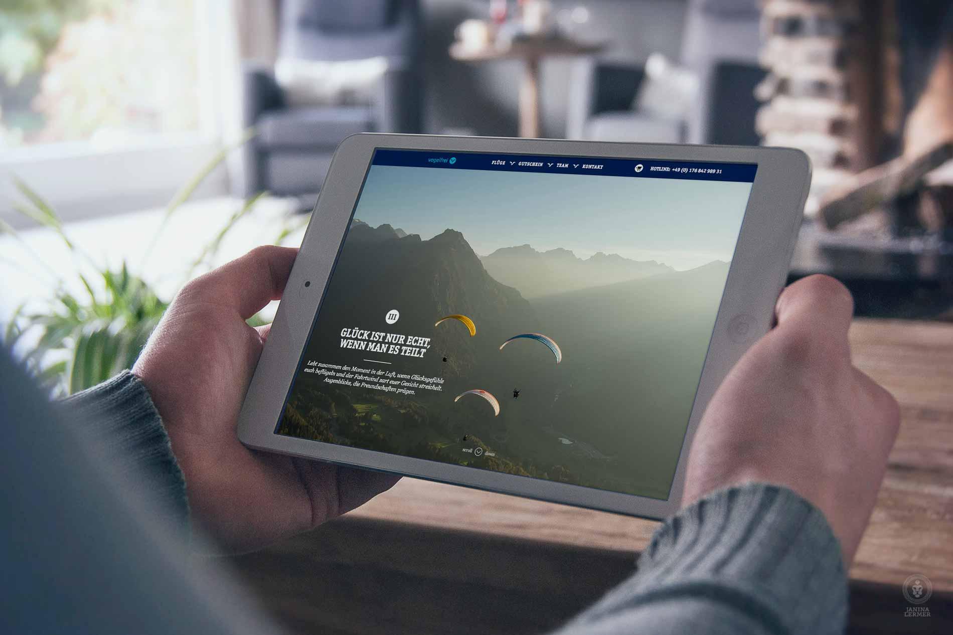Janina-Lermer-Webseitenkonzept-Webseitengestaltung-Webdesign-Vogelfrei-Tablet_Home3