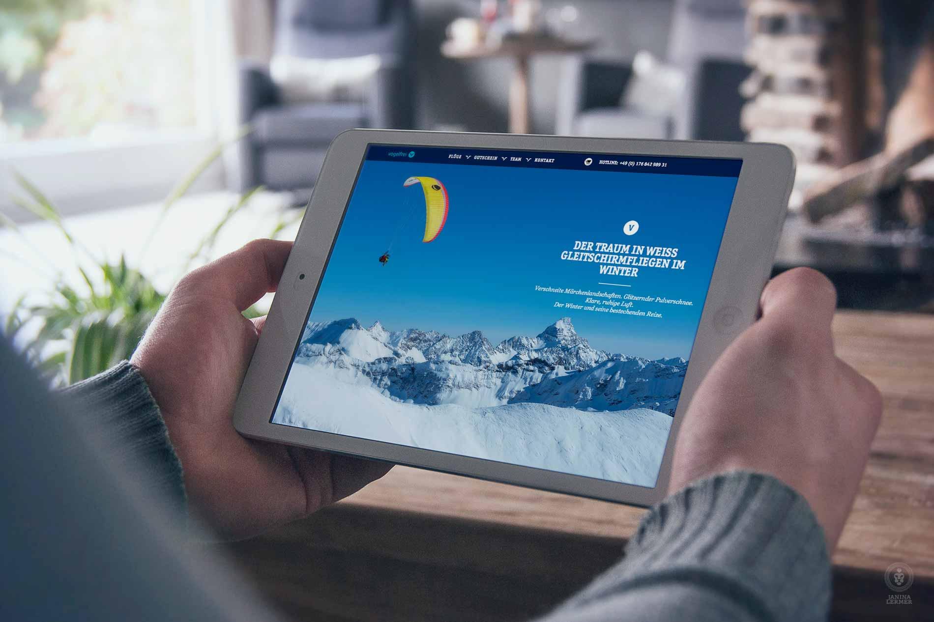 Janina-Lermer-Webseitenkonzept-Webseitengestaltung-Webdesign-Vogelfrei-Tablet_Winter