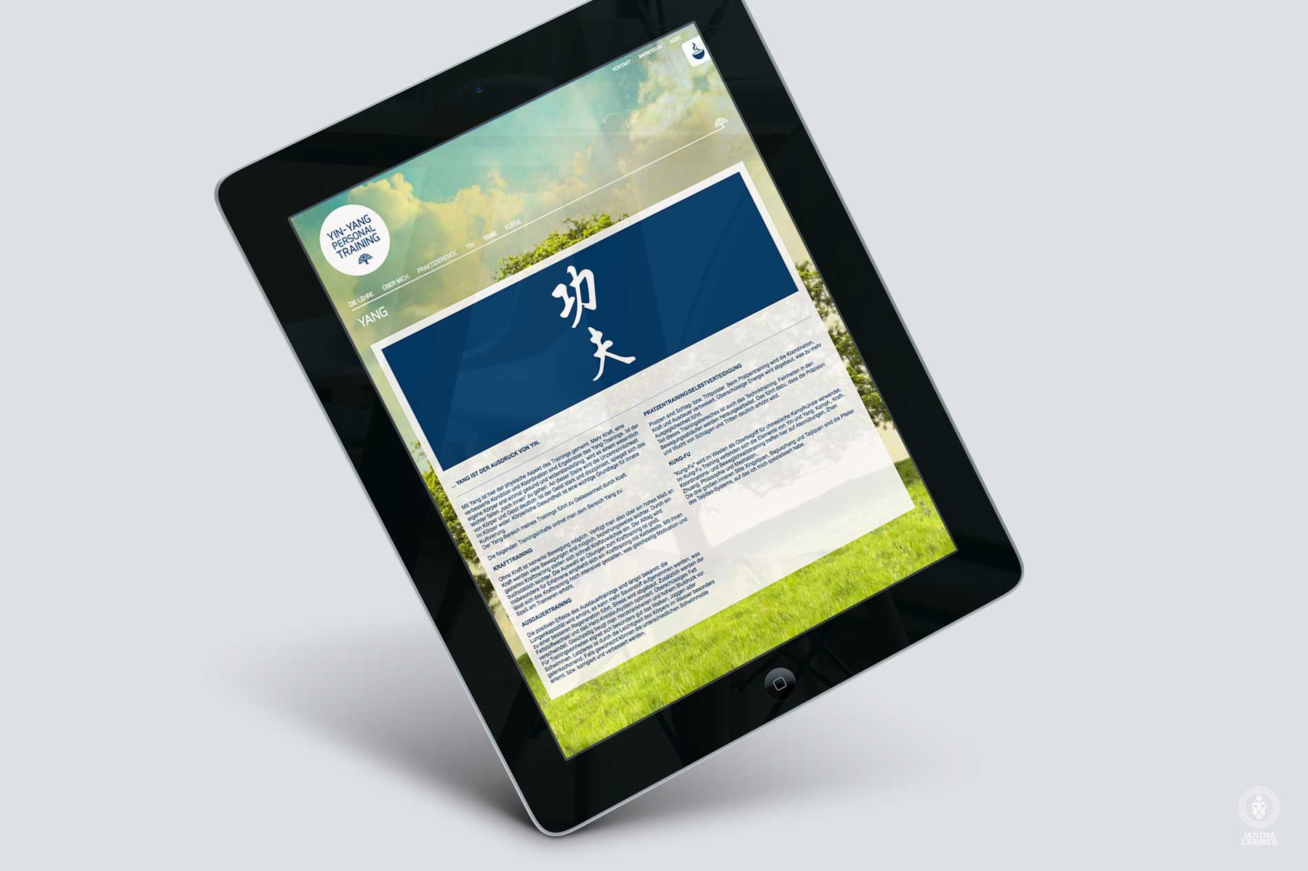Webseitenkonzept-Webseitengestaltung-Webdesign-Yin-Yang-PersonalTrainer-Ulrich-Lampert-Ipad-YANG