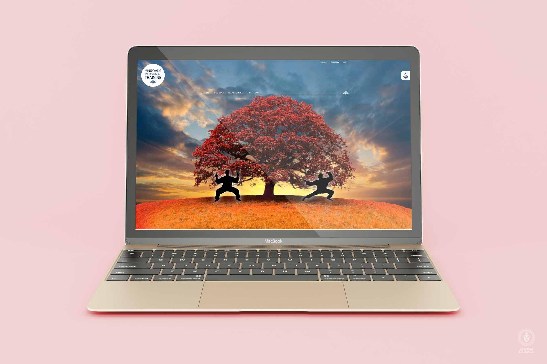 Webseitenkonzept-Webseitengestaltung-Webdesign-Yin-Yang-PersonalTrainer-Ulrich-Lampert-Laptop-Herbst-Autumn