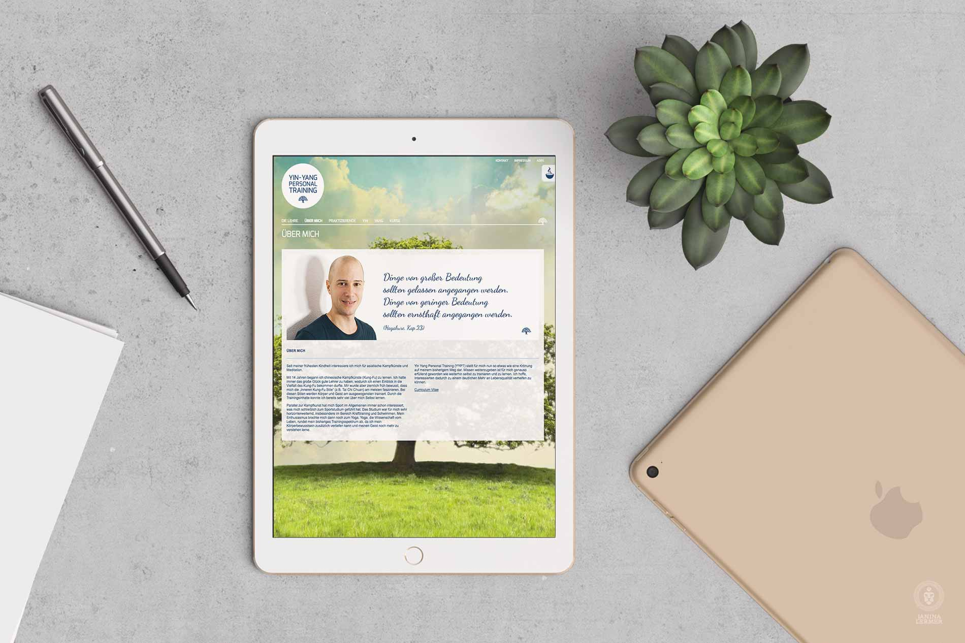 Webseitenkonzept-Webseitengestaltung-Webdesign-Yin-Yang-PersonalTrainer-Ulrich-Lampert-Ipad-Ueber-About