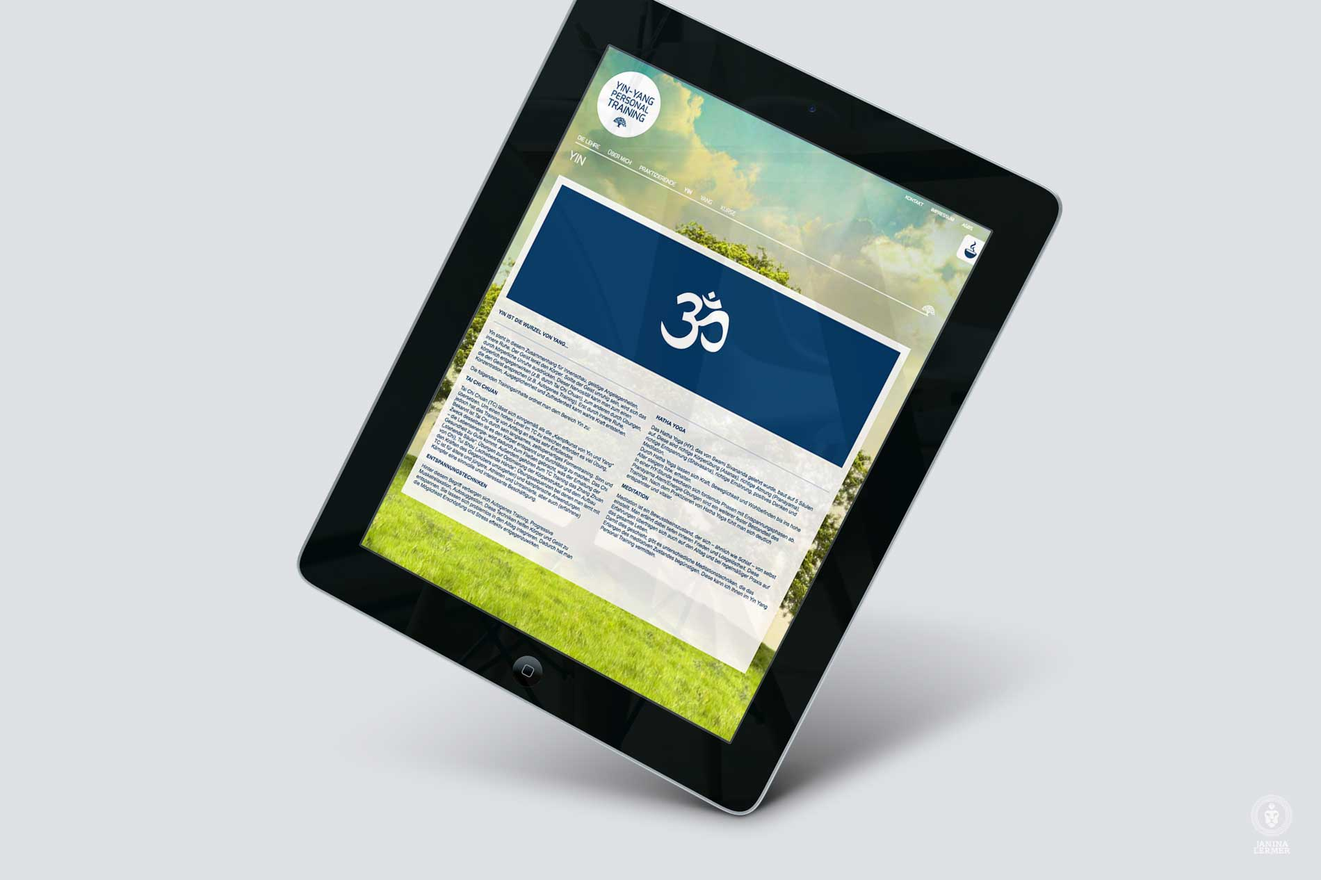 Webseitenkonzept-Webseitengestaltung-Webdesign-Yin-Yang-PersonalTrainer-Ulrich-Lampert-Ipad-YIN