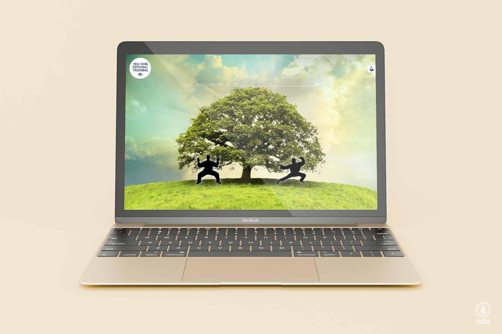 Webseitenkonzept-Webseitengestaltung-Webdesign-Yin-Yang-PersonalTrainer-Ulrich-Lampert-Laptop-Fruehling-Spring