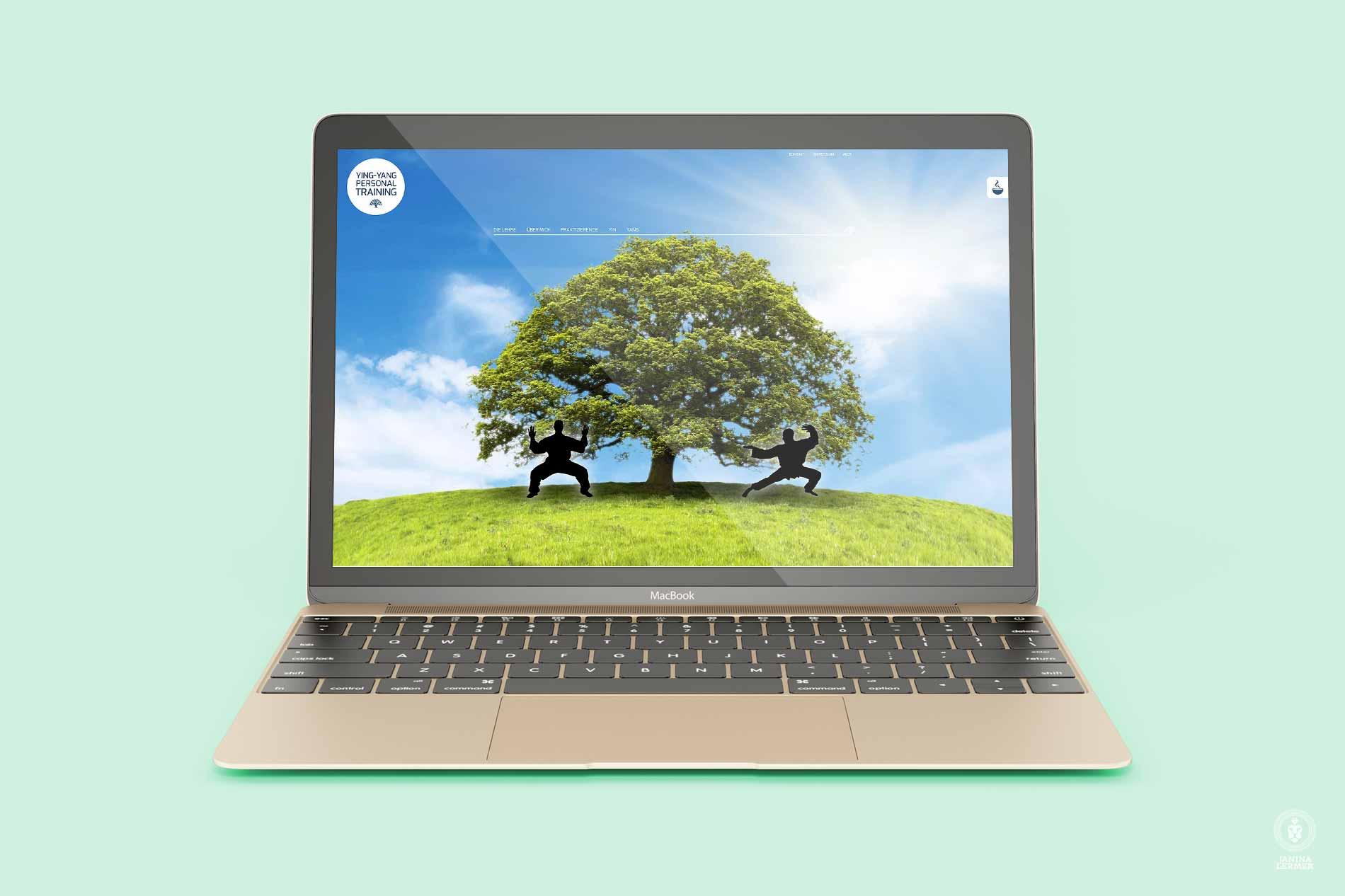 Webseitenkonzept-Webseitengestaltung-Webdesign-Yin-Yang-PersonalTrainer-Ulrich-Lampert-Laptop-Sommer-Summer